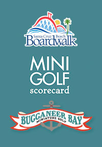 Mini-Golf Score Card App screen image