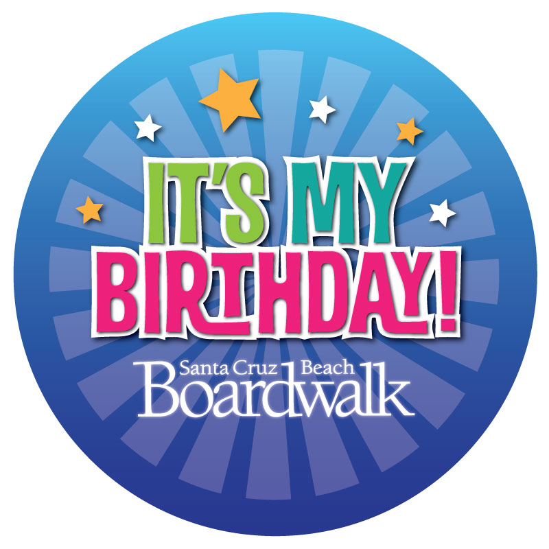 Boardwalk Birthday Party Button