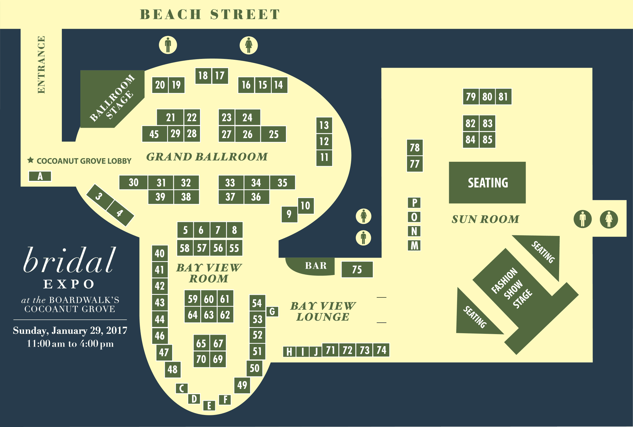 Bridal Expo Map