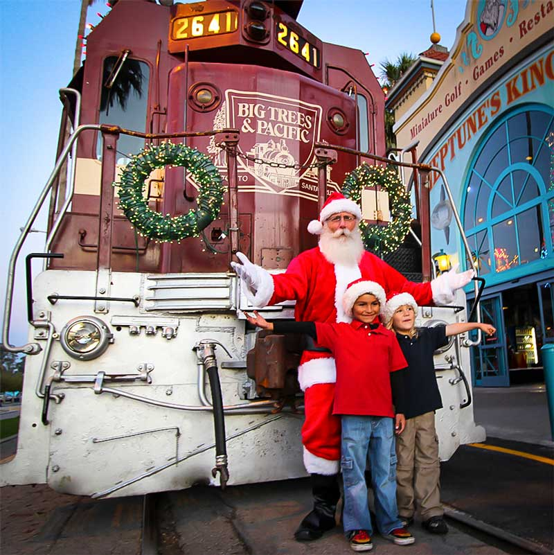 Holiday Train and Santa Claus