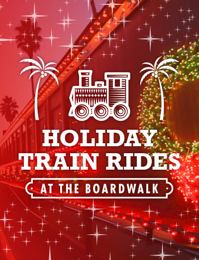 Holiday Train Rides at the Boardwalk