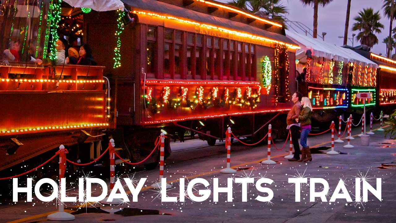 santa cruz holiday lights train