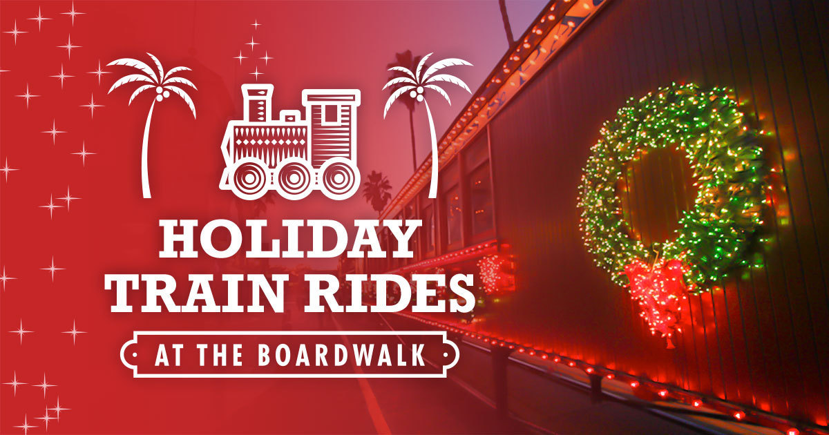Holiday Train Rides At The Boardwalk