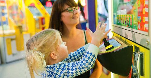 Family Fun in the Casino Arcade
