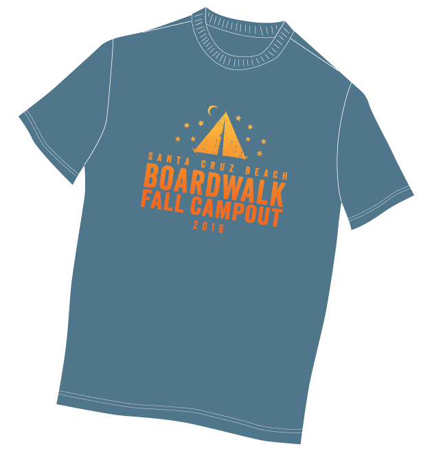 Boardwalk Fall Campout T-Shirt 2016