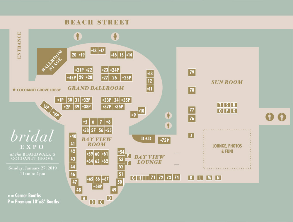 Bridal Expo Exhibitor Map