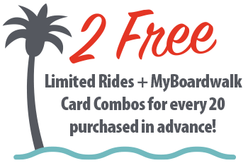 2 Free Limited Rides and Attraction Combos for every 20 purchased in advance